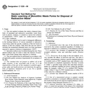 ASTM C 1220 – 98 pdf free download