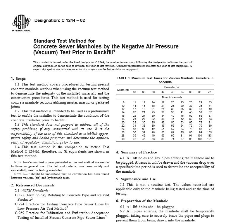 ASTM C 1244 – 02 pdf free download - Civil Engineers Standards