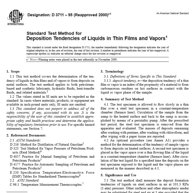 ASTM D 3711 – 95 pdf free download - Civil Engineers Standards